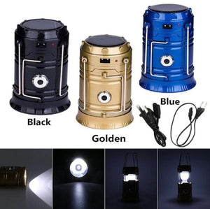 Rechargeable LED Solar Camping Lamp - Buy 1 Take 1 Free