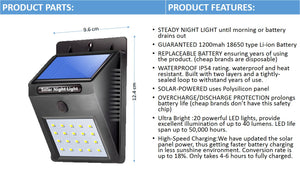 Solar Night Light 20 LED( Steady Light ): Buy 1, Take 2 Free