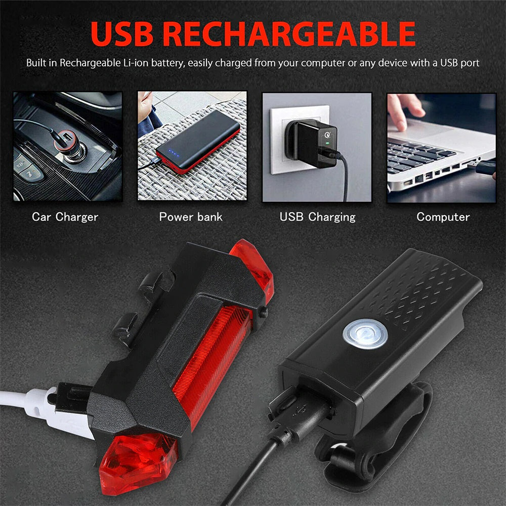 USB Rechargeable Bicycle light! Buy 1, Take 1 Free!