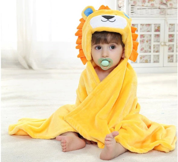 Baby Cartoon Baby Hooded Towel- Buy 1 , Take 1 FREE!!!