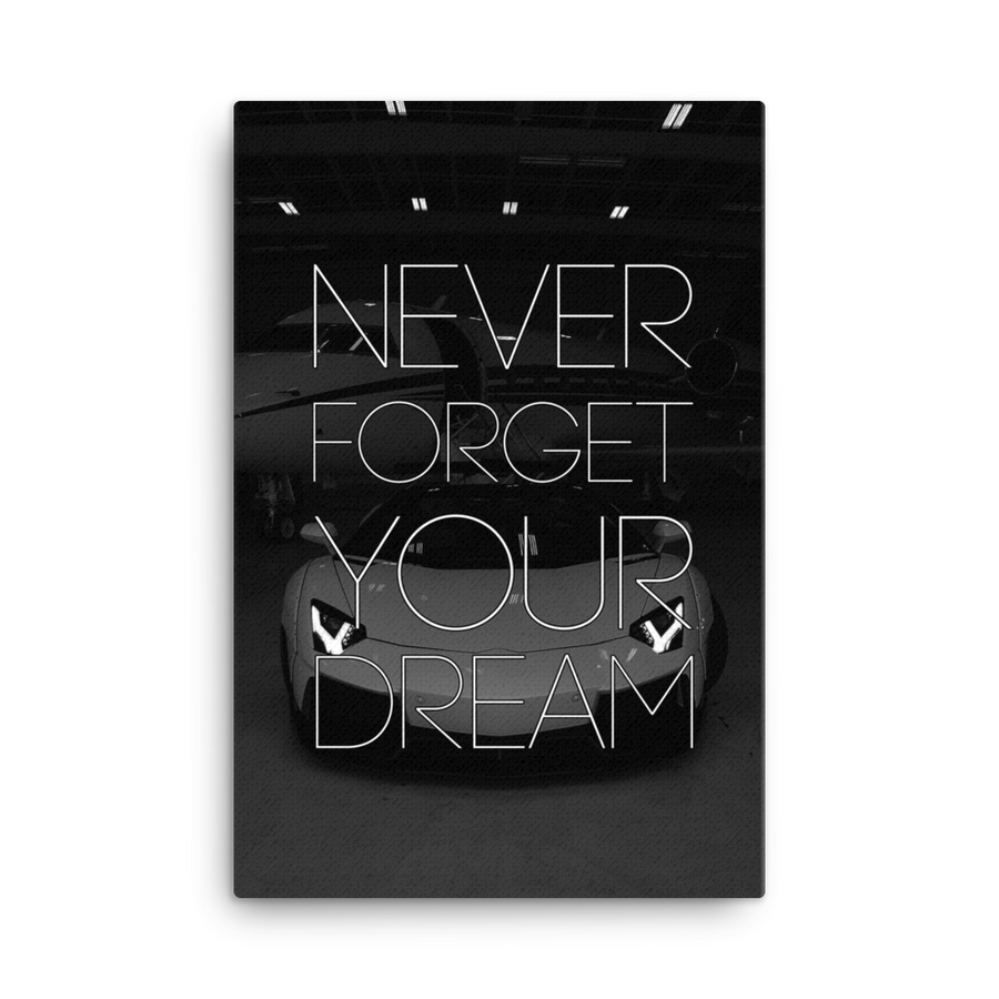 """Never Forget"" Canvas Motivational Wall Art"