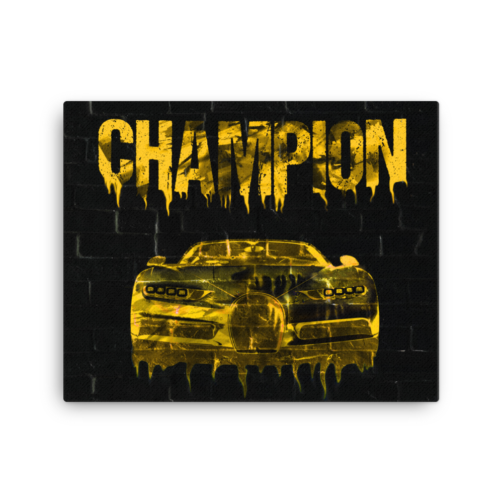 """Champion"" Canvas Motivational Wall Art"