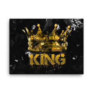"""King"" Canvas Motivational Wall Art"
