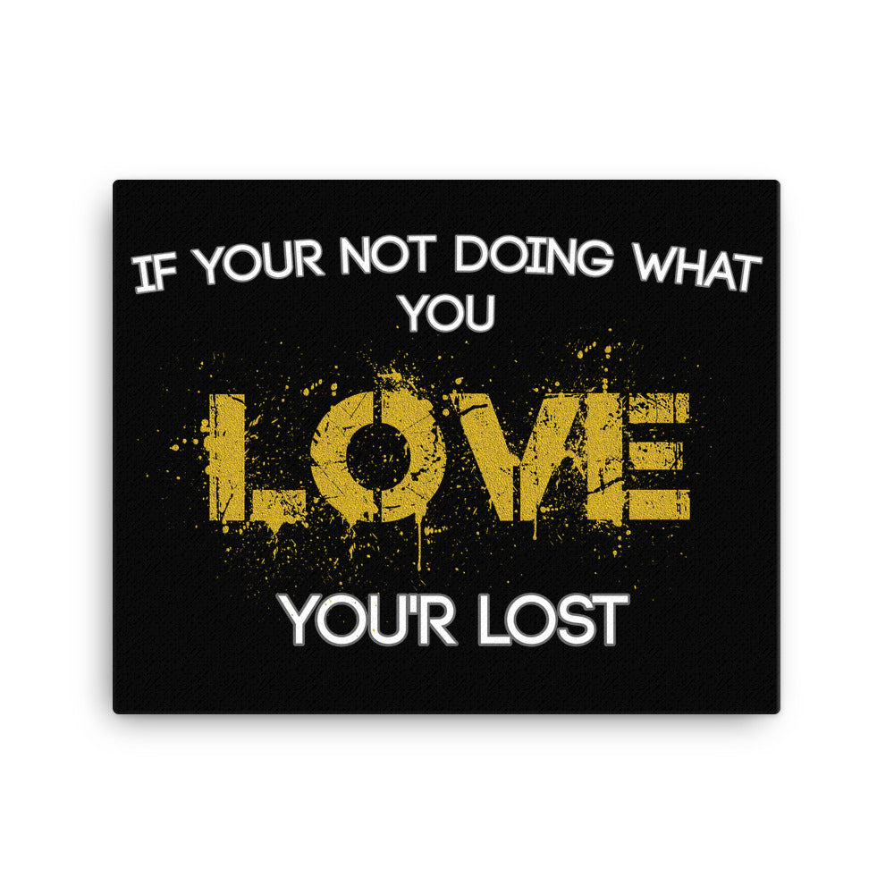 """Do What You Love"" Canvas Motivational Wall Art"