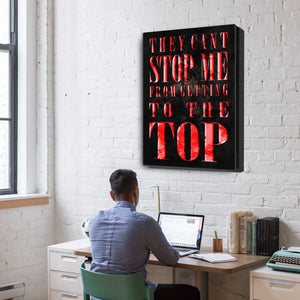 """Can't Stop Me"" Canvas Motivational Wall Art"