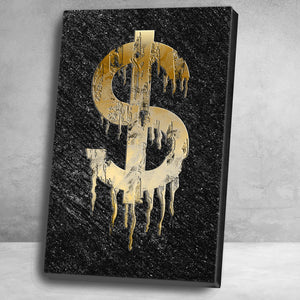"""The Dollar"" Canvas Motivational Wall Art"