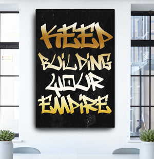 """Empire"" Canvas Motivational Wall Art"