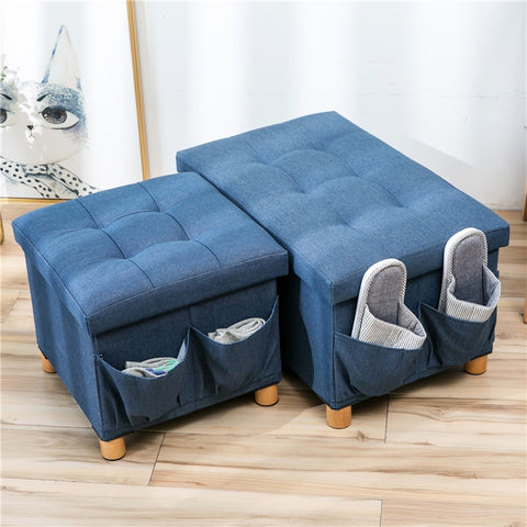 Denim Ottoman - ixDecor