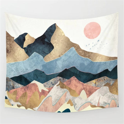 Nordic Pink Mountain - ixDecor