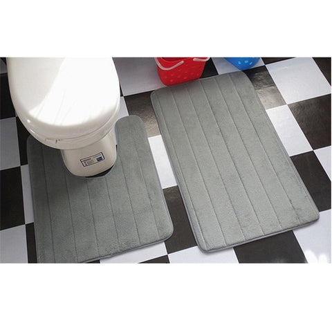 2 Pcs Simple Bathroom Mat - Oddites