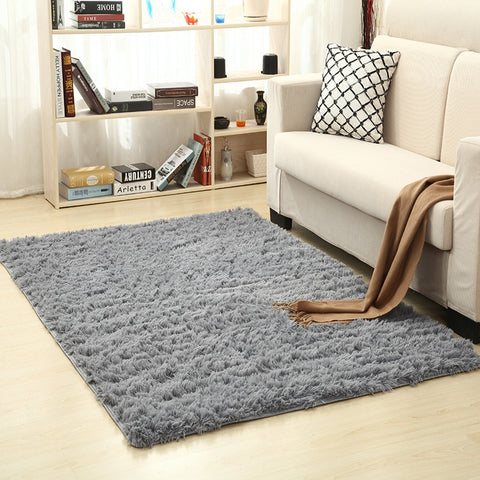 Super Soft Silk Wool Rug Indoor Modern Shag Area Rug Silky Rugs Bedroom Floor Mat Baby Nursery Rug Children Carpet - Oddites