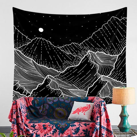 Night Mountain Wave - ixDecor