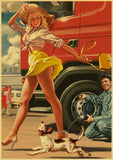 Vintage Pin Up Girl Poster - Oddites