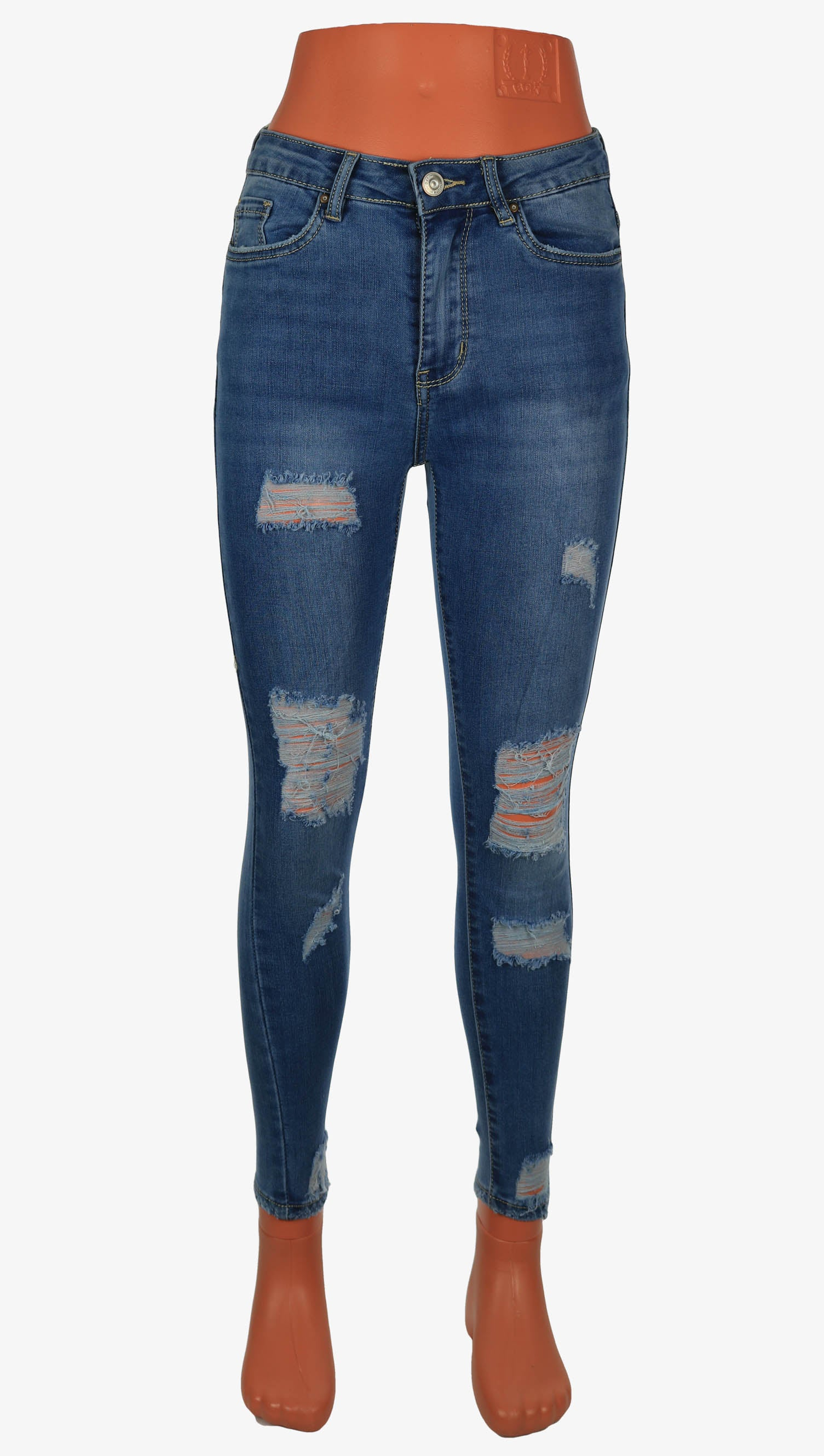 ecc4894eddaf Damen Jeans - Destroyed Ripped Knee - OutLook Tappered