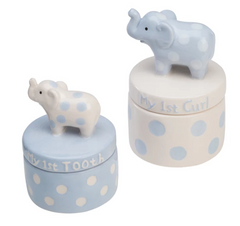 Tooth & Curl Blue Keepsake Box