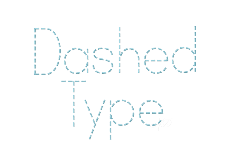 Dashed Type Font