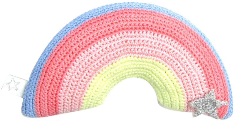 Crochet Rainbow Star Rattle