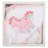 Unicorn Hooded Towel and Washcloth Set
