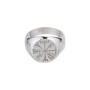 Vegvisir Clear Ring - Black Buddha Jewelry