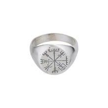 Load image into Gallery viewer, Vegvisir Matte Ring-Ring-Black Buddha Jewelry