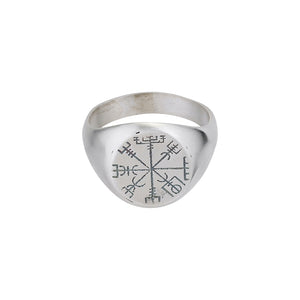 Vegvisir Matte Ring - Black Buddha Jewelry