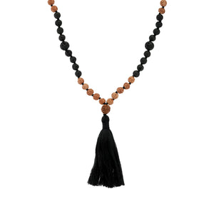 Batur Mala Necklace - Black Buddha Jewelry