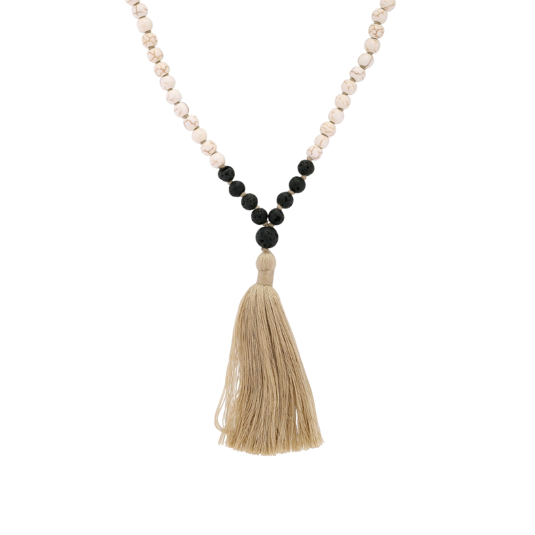 Yin Mala Necklace-Necklace-Black Buddha Jewelry