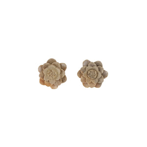 Blóm Faux Plugs-Earrings-Black Buddha Jewelry
