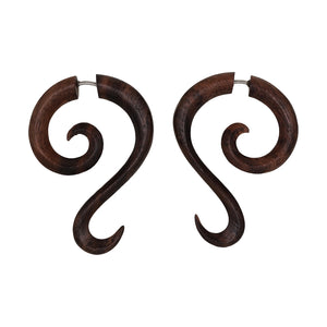 Nengah Spiral Earrings-Earrings-Black Buddha Jewelry