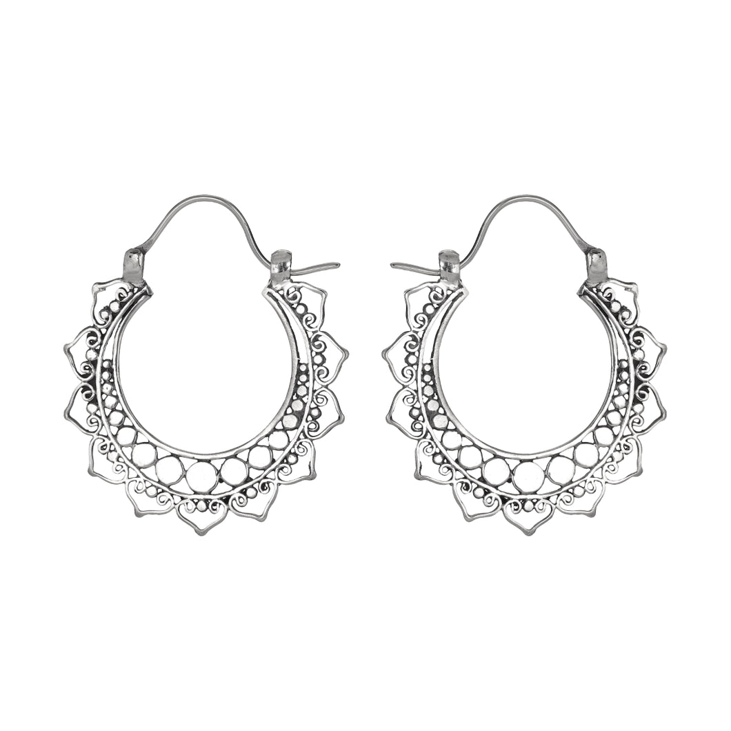 Alva Hoop Earrings-Earrings-Black Buddha Jewelry