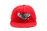 RED WAVY LOGO UNCONSTRUCTED SNAPBACK (SOLD OUT)