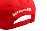 RED WAVY LOGO UNCONSTRUCTED SNAPBACK