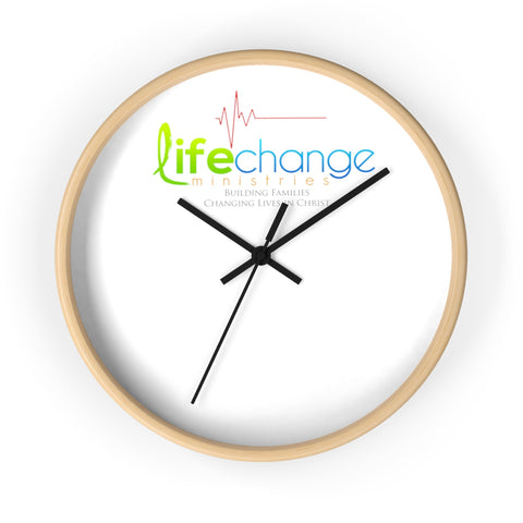 Life Change Ministries Wall clock Home Decor- Warrior Design Co. | Quality Affordable Branding Solutions