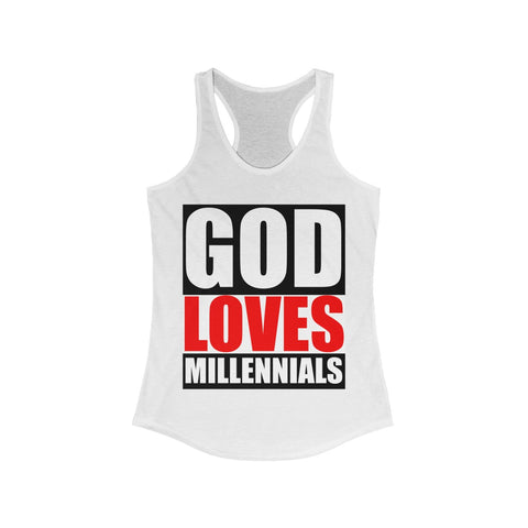 Christ Society God Loves Millennials Women's Tank Tank Top- Warrior Design Co. | Quality Affordable Branding Solutions