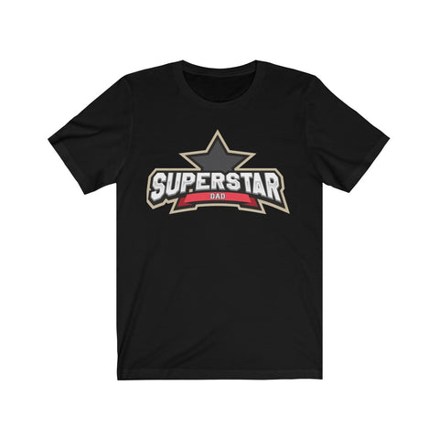 Superstar Dad Short Sleeve Tee T-Shirt- Warrior Design Co. | Quality Affordable Branding Solutions