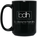 BDH 15 oz. Black Mug Drinkware- Warrior Design Co. | Quality Affordable Branding Solutions