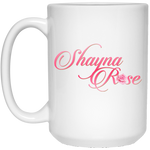 Shayna Rose 15 oz. White Mug Drinkware- Warrior Design Co. | Quality Affordable Branding Solutions