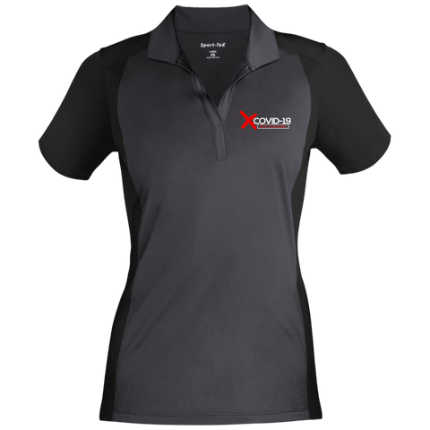X Covid-19 Women's Sport-Wick Polo Polo Shirts- Warrior Design Co. | Quality Affordable Branding Solutions