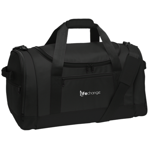 Life Change Travel Sports Duffel Bags- Warrior Design Co. | Quality Affordable Branding Solutions