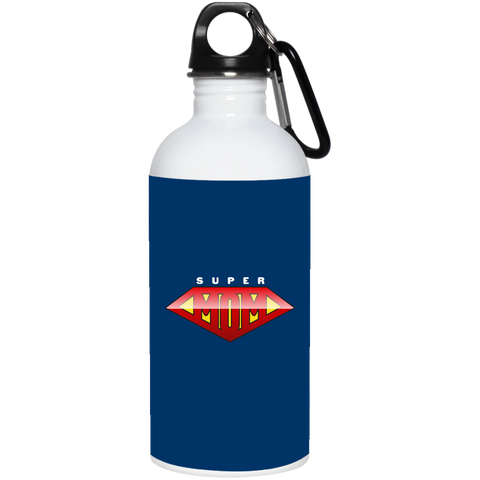 Super Mom 20 oz. Stainless Steel Water Bottle Drinkware- Warrior Design Co. | Quality Affordable Branding Solutions