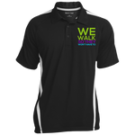 Run/Walk 4 Water Colorblock 3-Button Polo Polo Shirts- Warrior Design Co. | Quality Affordable Branding Solutions