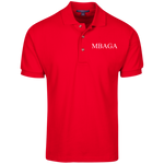 MBAGA Men's Polo Polo Shirts- Warrior Design Co. | Quality Affordable Branding Solutions