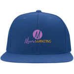 Moore Marketing Flat Bill Cap Hats- Warrior Design Co. | Quality Affordable Branding Solutions