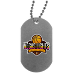 Vegas Lights Silver Dog Tag Jewelry- Warrior Design Co. | Quality Affordable Branding Solutions