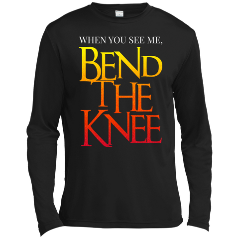 Bend the Knee Moisture Absorbing T-Shirt T-Shirts- Warrior Design Co. | Quality Affordable Branding Solutions