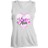 I Love My Mom Sleeveless Moisture Absorbing V-Neck T-Shirts- Warrior Design Co. | Quality Affordable Branding Solutions