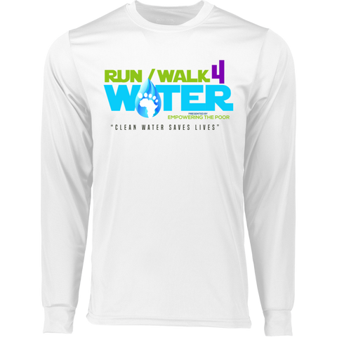 Run/Walk 4 Water LS Wicking T-Shirt T-Shirts- Warrior Design Co. | Quality Affordable Branding Solutions