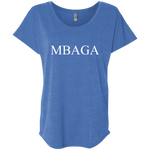 MBAG Women's Triblend Dolman Sleeve T-Shirts- Warrior Design Co. | Quality Affordable Branding Solutions