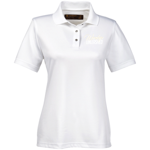 M345W Harriton Ladies' Snap Placket Performance Polo Polo Shirts- Warrior Design Co. | Quality Affordable Branding Solutions