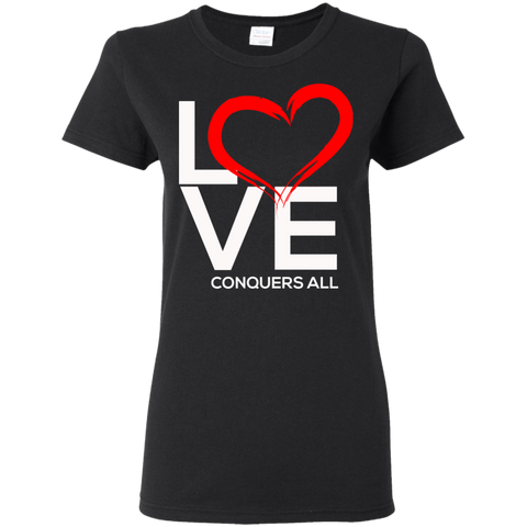 Love Conquers all Women's T-Shirt T-Shirts- Warrior Design Co. | Quality Affordable Branding Solutions
